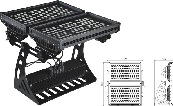 Led drita dmx,e udhëhequr nga tuneli,250W Sheshi IP65 DMX LED rondele mur 2, LWW-10-206P, KARNAR INTERNATIONAL GROUP LTD