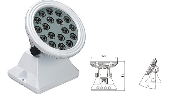 Led drita dmx,LED dritat e përmbytjes,25W 48W rondele e rrymës LED 1, LWW-6-18P, KARNAR INTERNATIONAL GROUP LTD